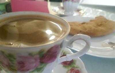 Morning Turkish coffee with Nasim