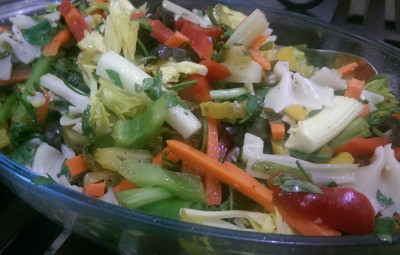 Farahnaz's Wholesome Sweet peppers salad
