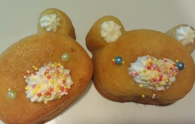 Teddy egg-cake