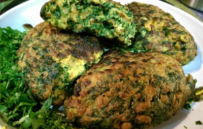 Puffy parsley cutlet