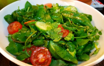 Parsley- Spinach salad