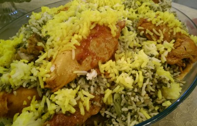 Persian Broad bean-rice wt chicken